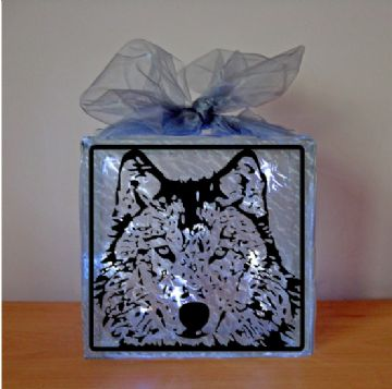 Wolf Head Vinyl Design Template